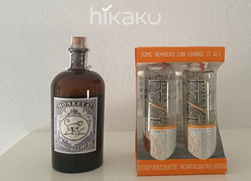 Ginebra premium Monkey 47 + Tonica premium 1724