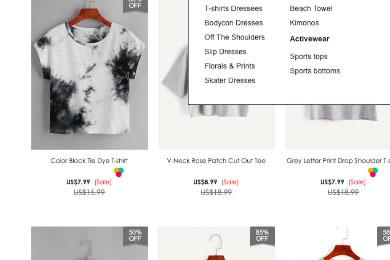 Carrito de compra de tienda de ropa online